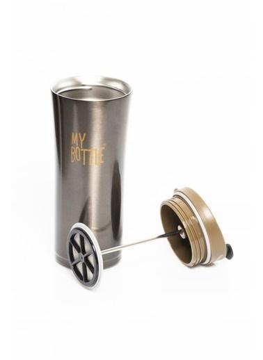 Herevin 500 ml My Bottle Çelik French Press Termos Kahve